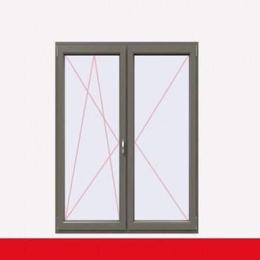 2-flüglige Balkontür Kunststoff Stulp Betongrau beidseitig ? Bild 2