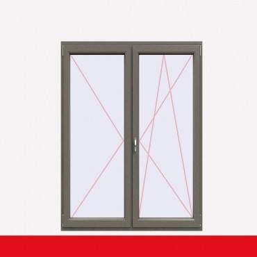 2-flüglige Balkontür Kunststoff Stulp Betongrau beidseitig ? Bild 1