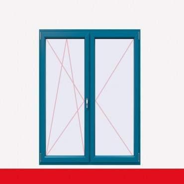 2-flüglige Balkontür Kunststoff Stulp Brillantblau beidseitig ? Bild 2