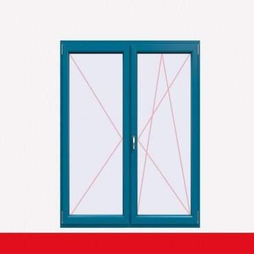 2-flüglige Balkontür Kunststoff Stulp Brillantblau beidseitig ? Bild 1