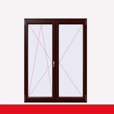 2-flüglige Balkontür Kunststoff Stulp Braun Maron beidseitig ? Bild 1
