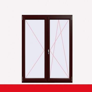 2-flüglige Balkontür Kunststoff Stulp Braun Maron beidseitig ? Bild 2
