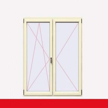 2-flüglige Balkontür Kunststoff Stulp Cremeweiß beidseitig ? Bild 1