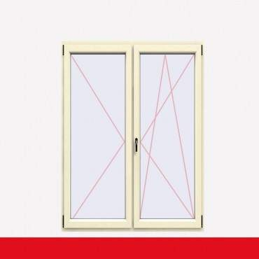 2-flüglige Balkontür Kunststoff Stulp Cremeweiß beidseitig ? Bild 2