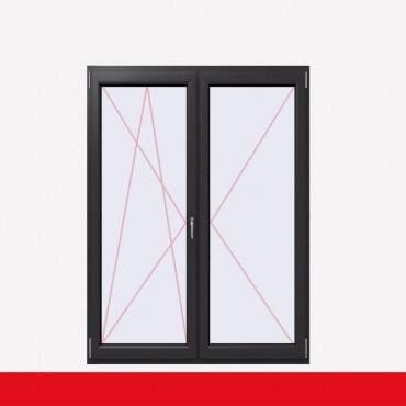 2-flüglige Balkontür Kunststoff Stulp Crown Platin beidseitig ? Bild 2