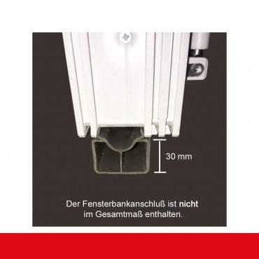 2-flüglige Balkontür Kunststoff Pfosten Aluminium Gebürstet beidseitig ? Bild 5