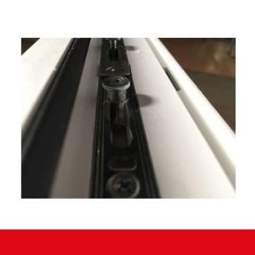 2-flüglige Balkontür Kunststoff Pfosten Aluminium Gebürstet beidseitig ? Bild 6