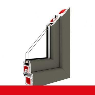 2-flüglige Balkontür Kunststoff Pfosten Basaltgrau Glatt beidseitig ? Bild 2