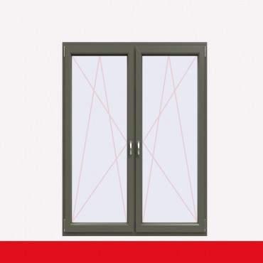 2-flüglige Balkontür Kunststoff Pfosten Basaltgrau Glatt beidseitig ? Bild 1