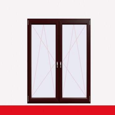2-flüglige Balkontür Kunststoff Pfosten Braun Maron beidseitig ? Bild 1