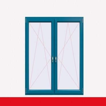 2-flüglige Balkontür Kunststoff Pfosten Brillantblau beidseitig ? Bild 1