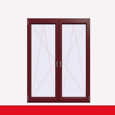 2-flüglige Balkontür Kunststoff Pfosten Cardinal Platin beidseitig ? Bild 1
