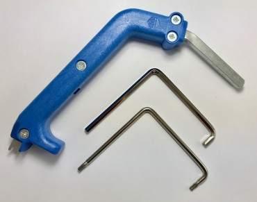 Fenster Einstellschlüssel Set - Torx TX 15 + Inbus 2x gebogen 75 mm SW4 + Maco Scherenlager Schlüssel
