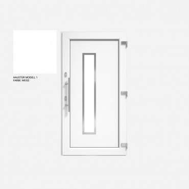 Haustür Weiß DRUTEX IGLO 5 Modell 1 - 1 flüglige Kunststoff Hauseingangstür ? Bild 1