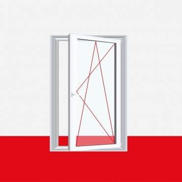 Restposten 1flg. Fenster DK Rechts 700 x 900mm 2-fach Verglasung Master Carre Außen Bergkiefer / Innen Weiß ? Bild 1
