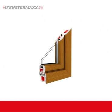 Restposten 1flg. Fenster DK Rechts 700 x 900mm 2-fach Verglasung Master Carre Außen Bergkiefer / Innen Weiß ? Bild 2