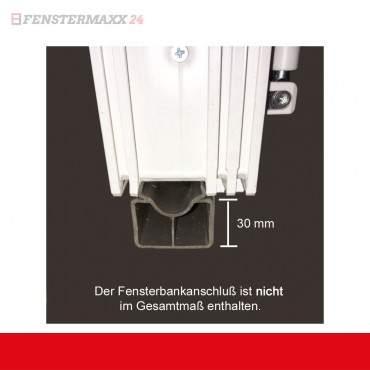 Restposten 1.flg. Fenster DK Links Außen Anthrazit / Innen Weiß 650x850mm 3fach Verglasung ? Bild 4