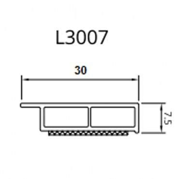 Dekor Abdeckleiste Fensterleiste 6m 30-50mm-7,5 mm Kunststoffleiste / 42 Farben ? Bild 1