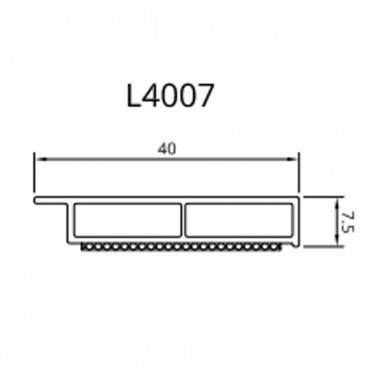 Dekor Abdeckleiste Fensterleiste 6m 30-50mm-7,5 mm Kunststoffleiste / 42 Farben ? Bild 2
