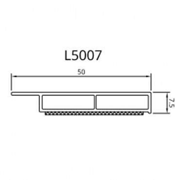 Dekor Abdeckleiste Fensterleiste 6m 30-50mm-7,5 mm Kunststoffleiste / 42 Farben ? Bild 3