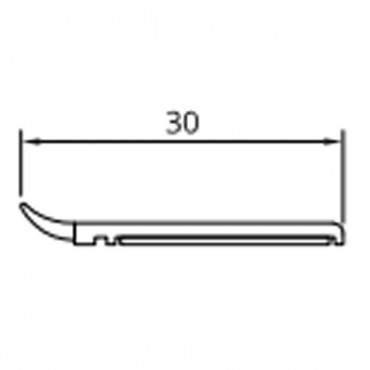 20mm-50mm Fensterleiste Abdeckleiste Flachleiste Kunststoffleiste Fensterleisten ? Bild 2