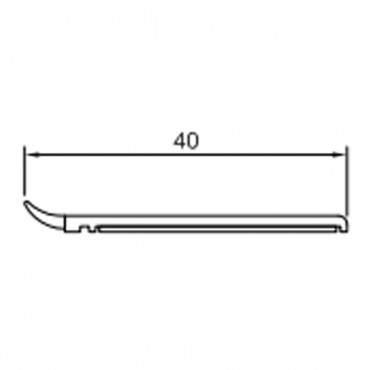 20mm-50mm Fensterleiste Abdeckleiste Flachleiste Kunststoffleiste Fensterleisten ? Bild 3
