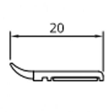 20mm-50mm Fensterleiste Abdeckleiste Flachleiste Kunststoffleiste Fensterleisten ? Bild 1