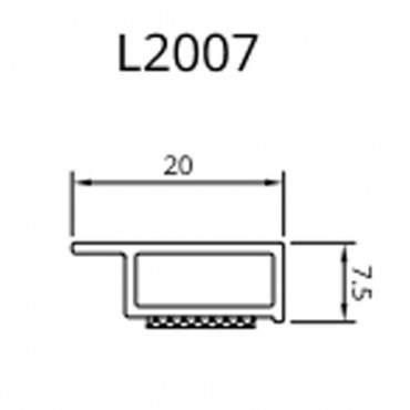 Abdeckleisten Hohlkammerleisten 6m 20 - 50mm 7,5mm Kunststoffleisten Fensterleisten ? Bild 1