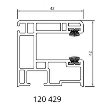 Drutex - Rollladenführungsschiene 120429 - 42 mm