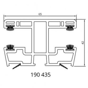 Drutex - Rollladenführungsschiene 120429 - 65 mm