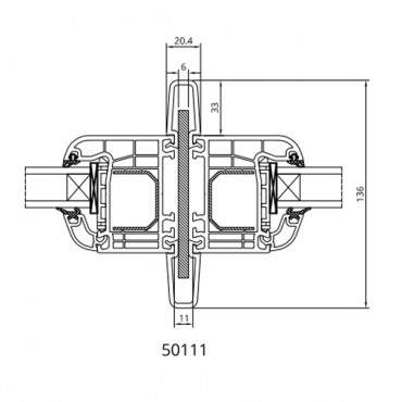 Statikkopplung 50111 für Drutex IGLO 5, IGLO 5 Classic, IGLO Light, IGLO Energy