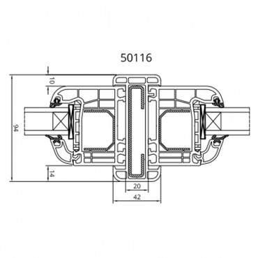 Statikkopplung 50116 für Drutex IGLO 5, IGLO 5 Classic und IGLO Light