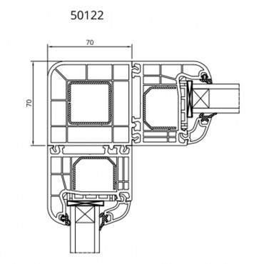 Eckkopplung 90° 50122 für Drutex IGLO 5, IGLO 5 Classic und IGLO Light