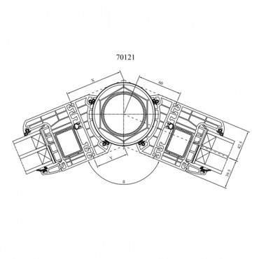 Variable Kopplung 70121 für Drutex IGLO Energy und Energy Classic