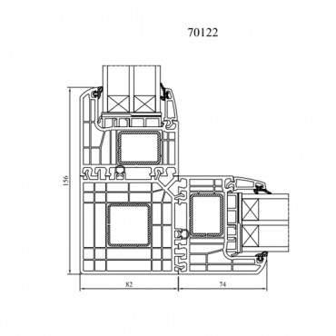 Eckkopplung 90° 70122 für Drutex IGLO Energy und Energy Classic