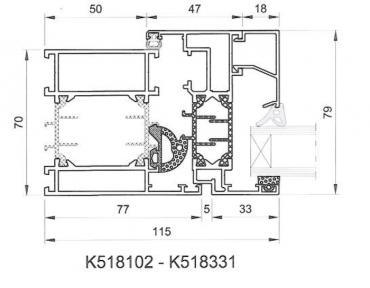 Aluminiumfenster Drutex ALU MB-70 Fenster RAL8019 Braun ? Bild 3