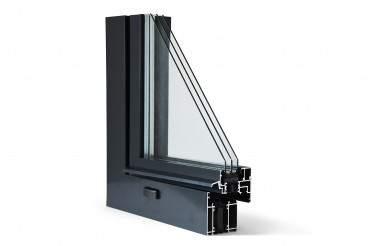 Aluminiumfenster Drutex ALU MB-70HI Fenster RAL8019 Braun ? Bild 3