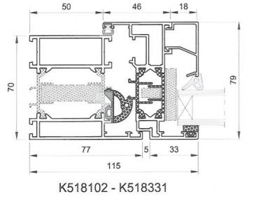 Aluminiumfenster Drutex ALU MB-70HI Fenster RAL8019 Braun ? Bild 2