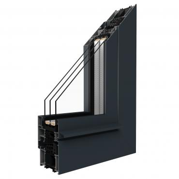 Aluminiumfenster Drutex ALU MB-86SI Fenster RAL 8019 Braun ? Bild 1