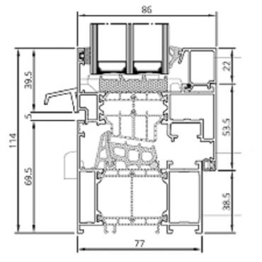 Aluminiumfenster Drutex ALU MB-86SI Fenster RAL 8019 Braun ? Bild 3