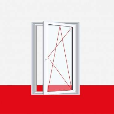 Restposten 1 flg. Fenster DK Links 1000 x 400mm 3-fach Verglasung Weiß ? Bild 1