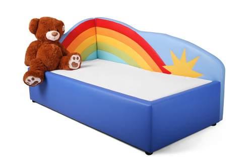 Kinderbett Tomto Motiv Regenbogen inkl. Matratze und Lattenrost