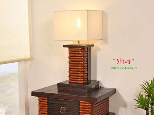 Bambus Nachttischlampe Shiva