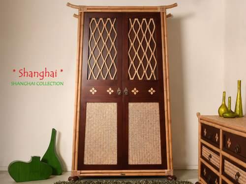 Bambus Kleiderschrank Shanghai - Asia Style