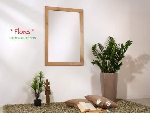 Bambus Wandspiegel Flores Hochkant